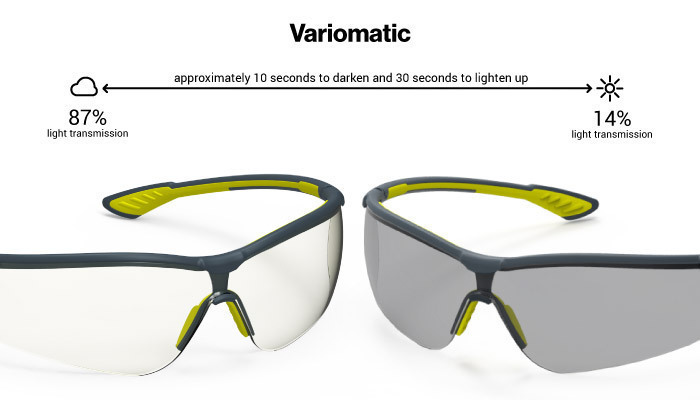 HexArmor Variomatic 87% to 14% Transition Safety Glasses