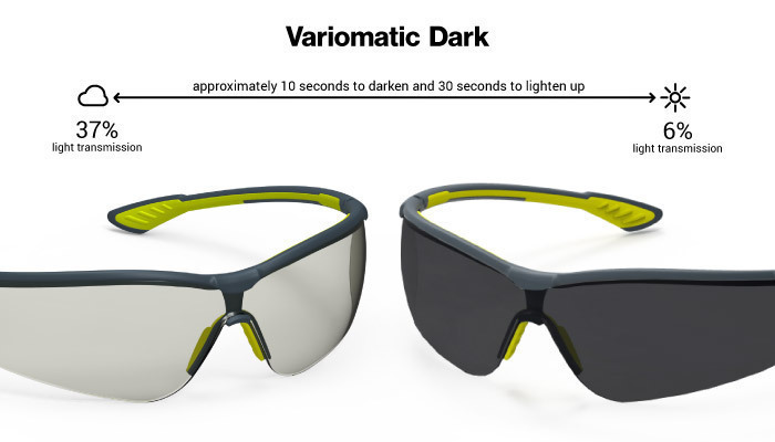 HexArmor Variomatic 37% to 6% Transition Safety Glasses