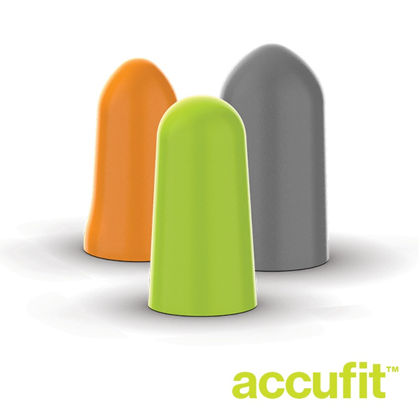 accuFit disposable earplugs