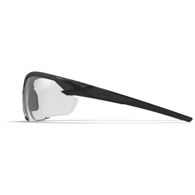 X1 clear safety glasses side view