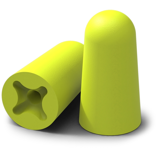 accuFit medium disposable earplugs standard view
