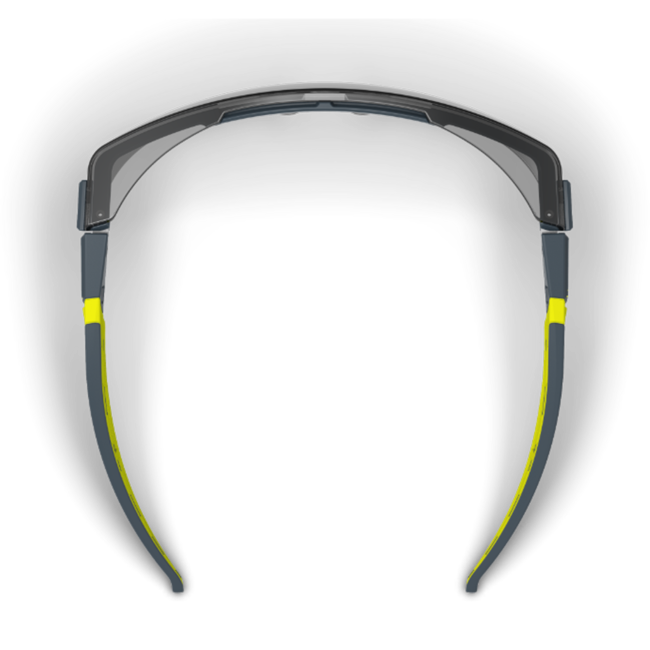 lt200 grey otg safety glasses top view