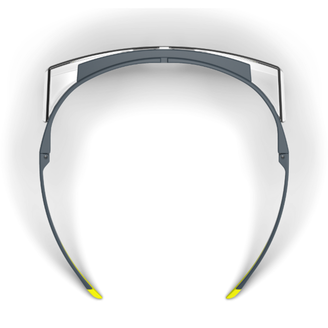 lt250 clear otg safety glasses top view