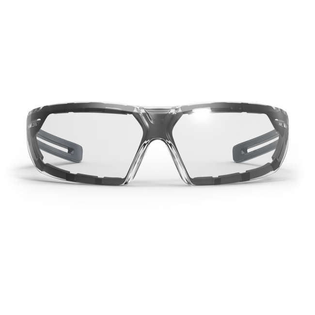 lt400g clear safety glasses front view