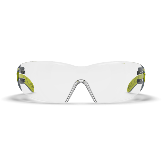 mx200 clear safety glasses front view
