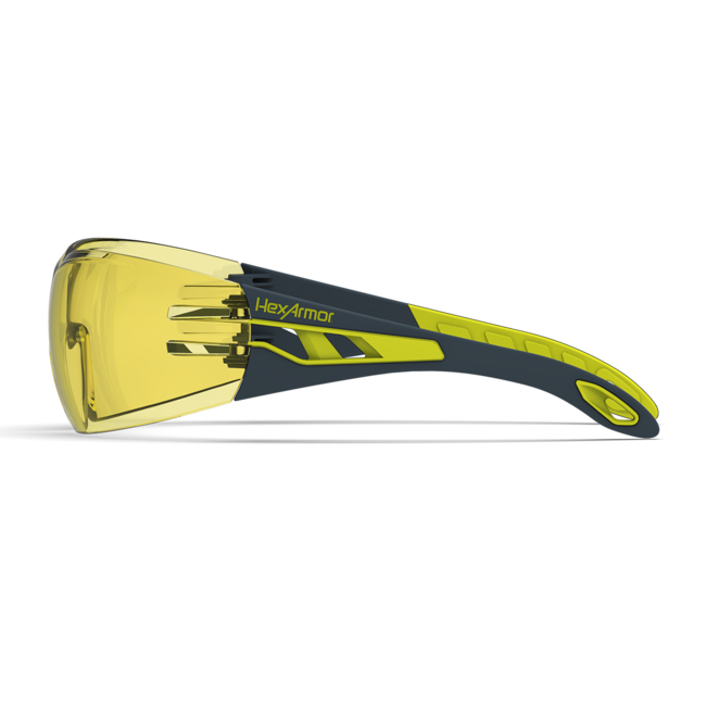 mx200 amber safety glasses side view
