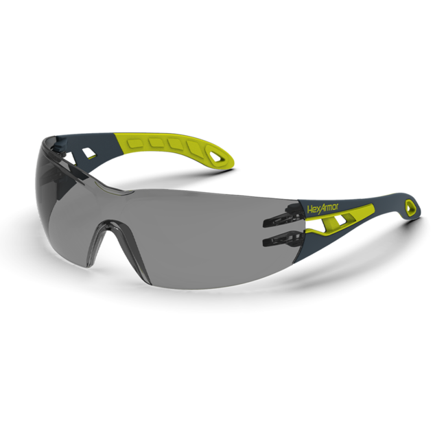 mx200 grey safety glasses standard view