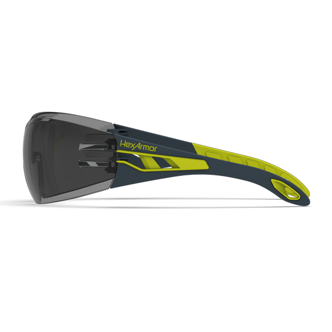 mx200 grey safety glasses side view
