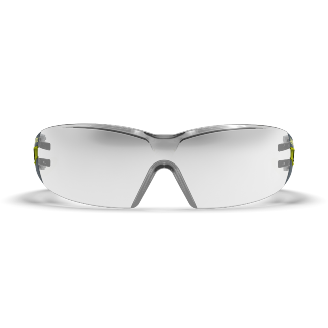 mx200 silver mirror safety glasses front view