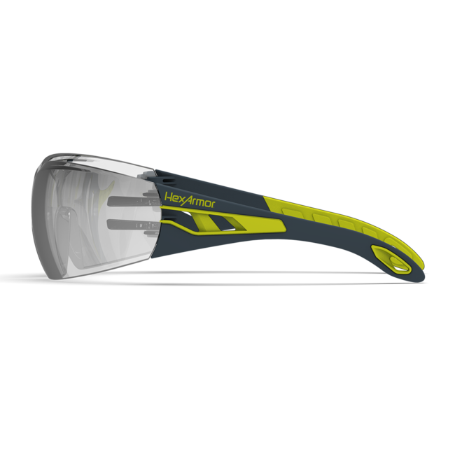 mx200 silver mirror safety glasses side view