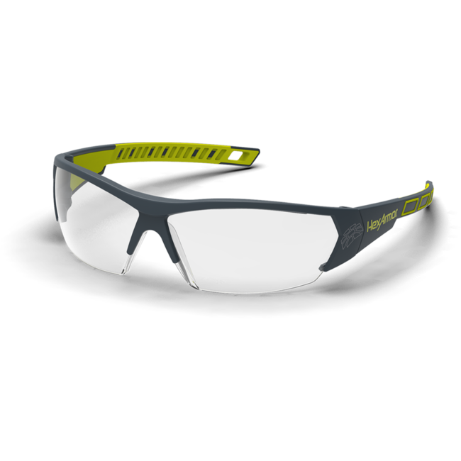 mx250 clear safety glasses standard view