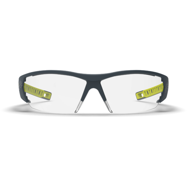 mx250 clear safety glasses front view