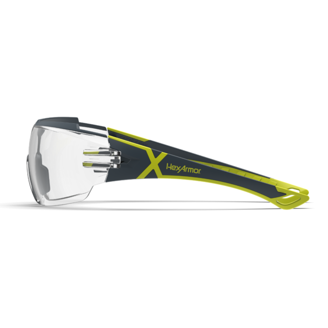 mx300 clear safety glasses side view
