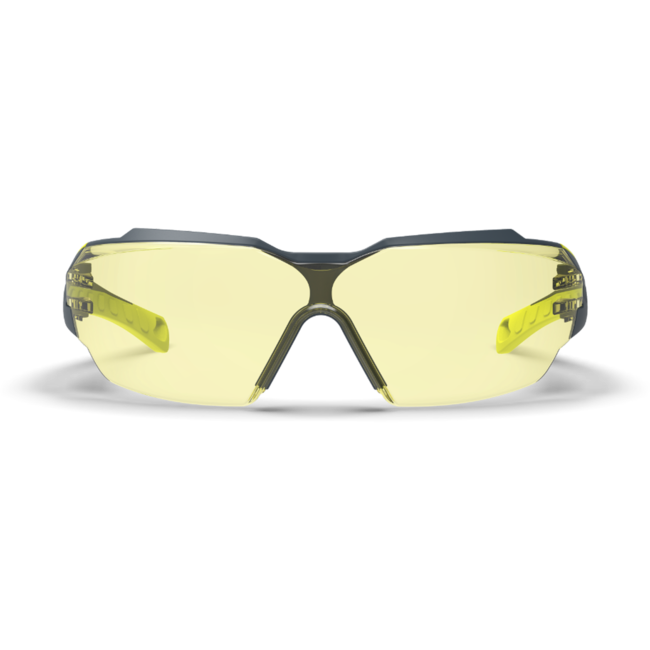 mx300 amber safety glasses front view