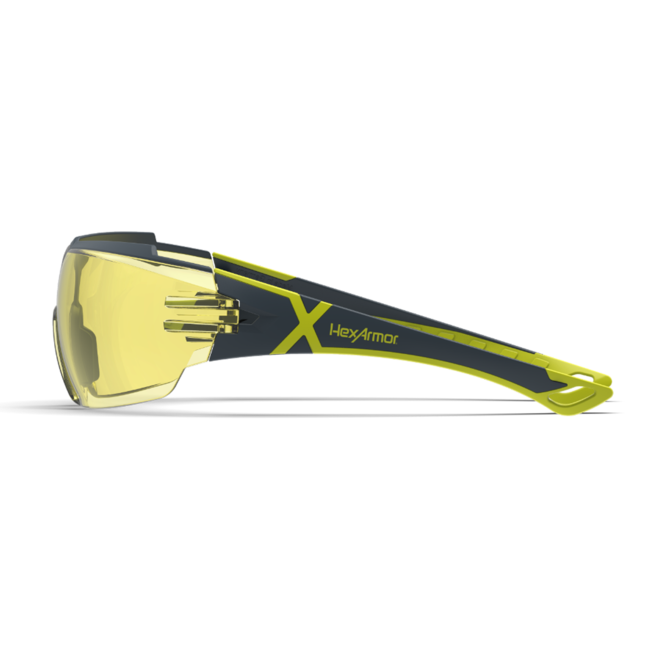 mx300 amber safety glasses side view