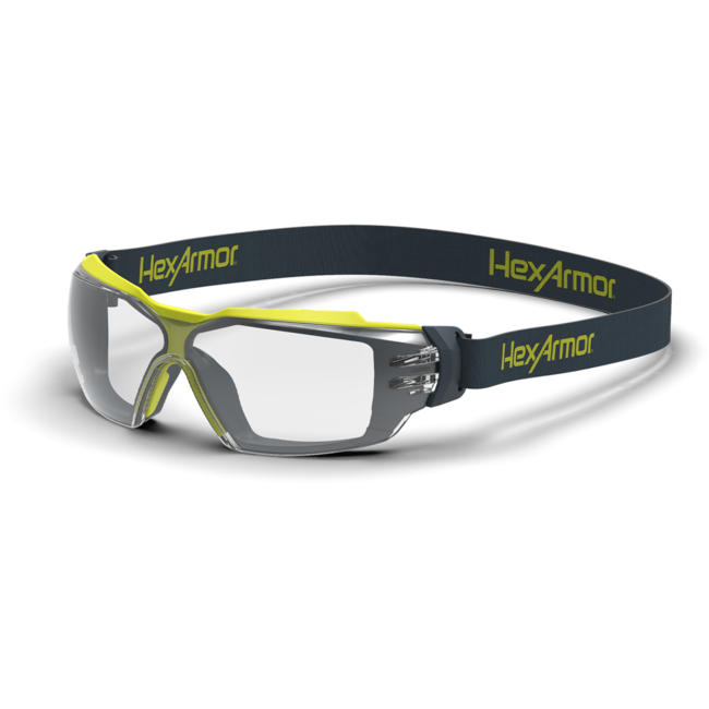 mx350g clear gasketed safety glasses standard view
