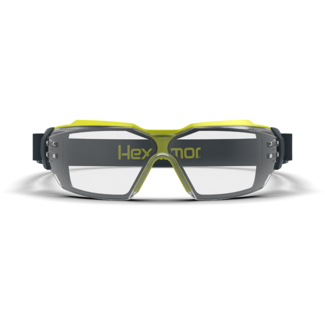 mx350g clear gasketed safety glasses front view