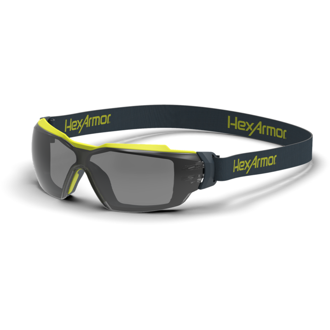 mx350g grey gasketed safety glasses standard view