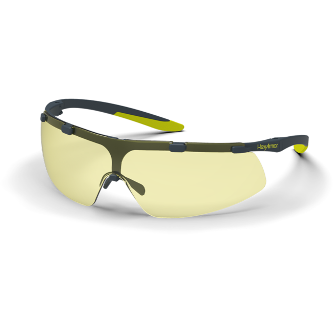 vs200 amber safety glasses standard view