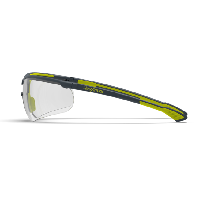 vs250 clear safety glasses side view