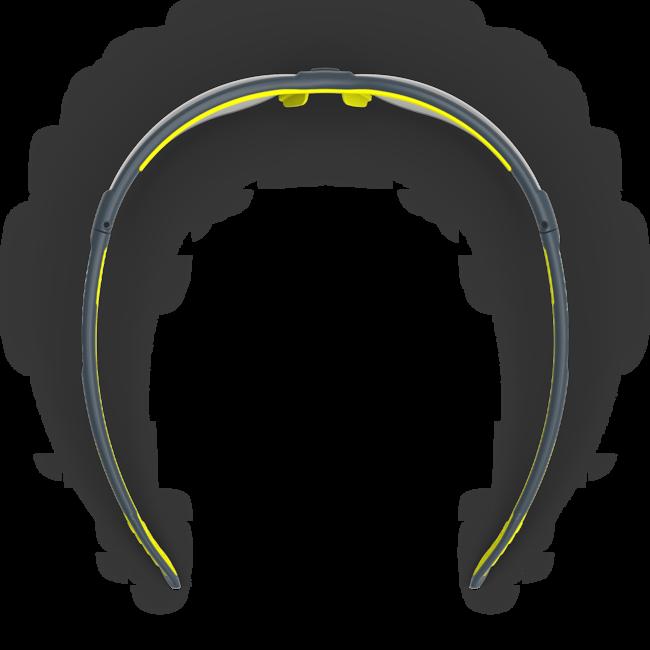 vs250 variomatic dark safety glasses top view