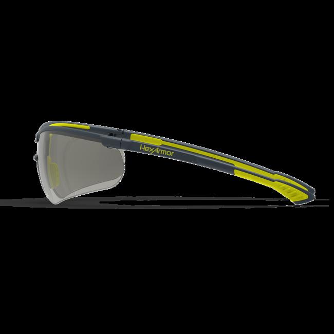 vs250 variomatic dark safety glasses side view