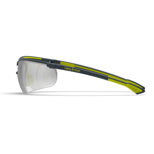 vs250 silver mirror safety glasses side view
