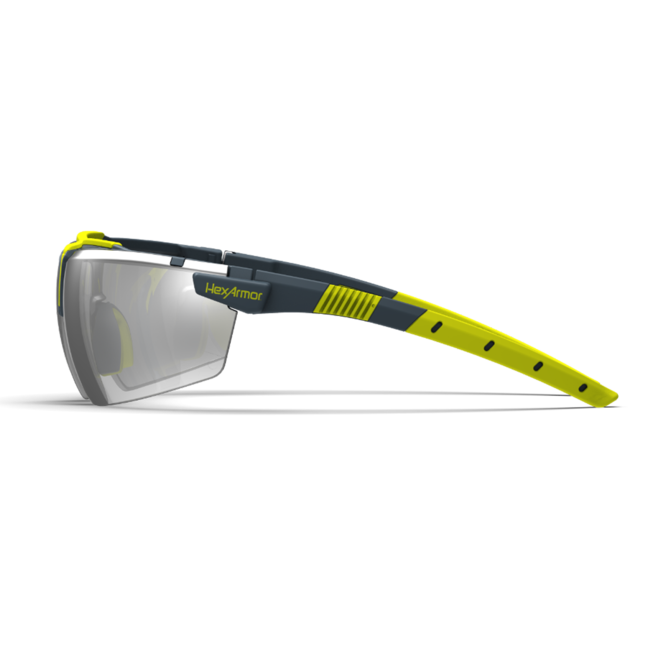 vs300 silver mirror safety glasses side view