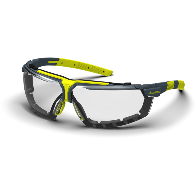 vs300g clear gasketed safety glasses standard view
