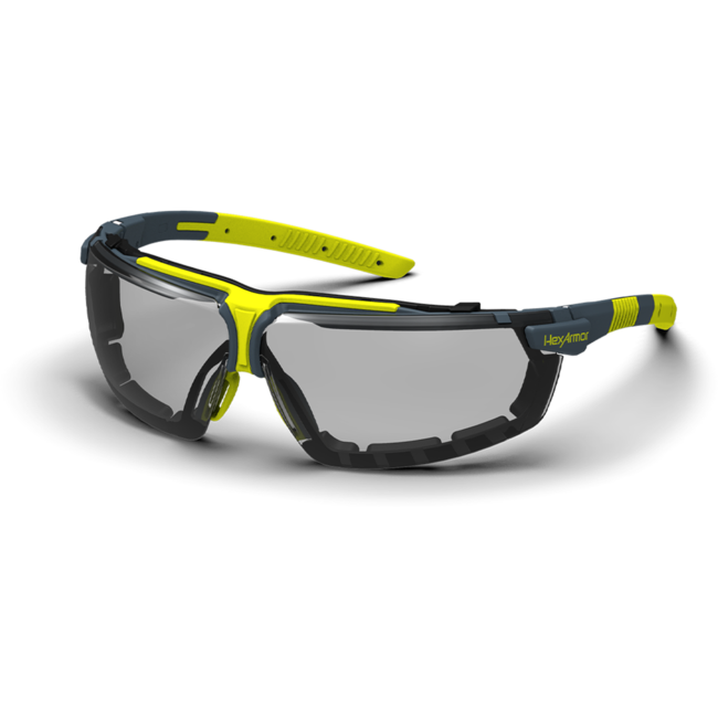 vs300sg grey gasketed safety glasses standard view