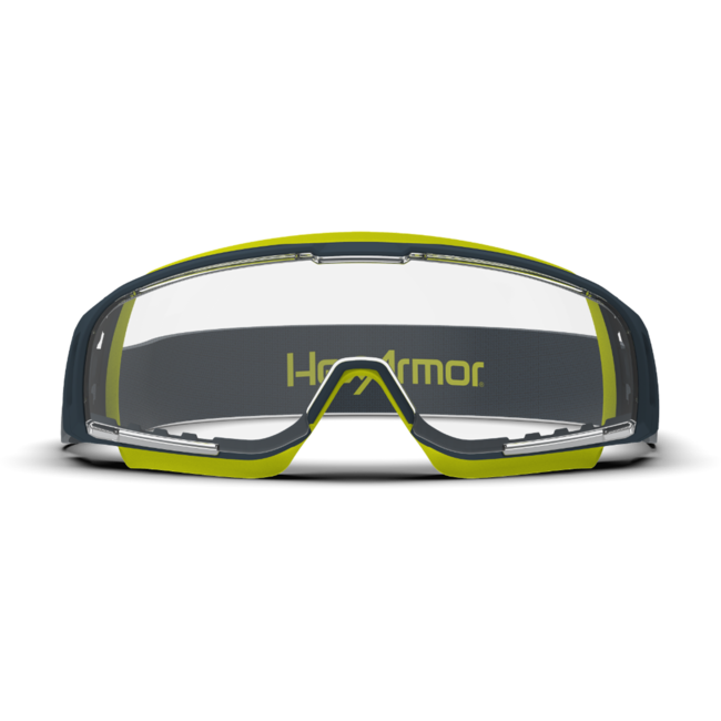 vs350 clear safety goggles front view