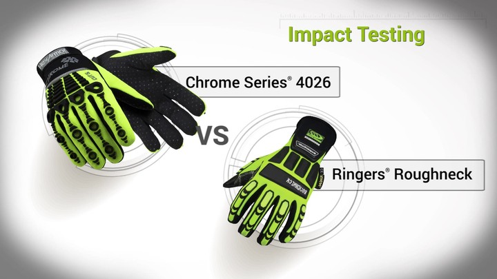 Impact Testing   Chrome Series® 4026 vs. Ringers® Roughneck