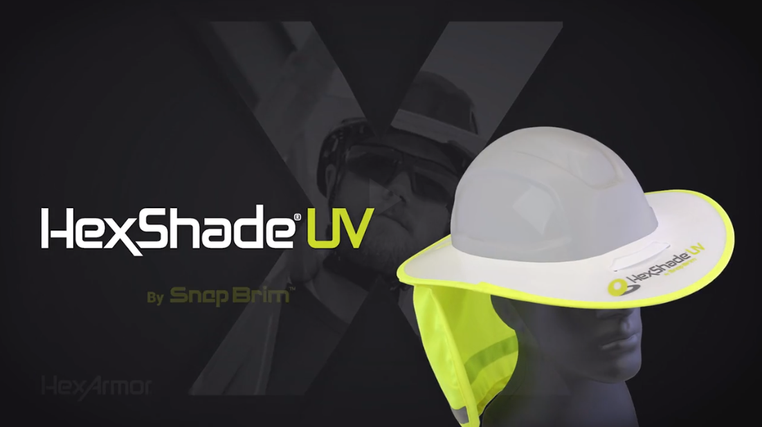 HexShade® UV by SnapBrim™ | UV protection and heat relief for hard hats